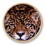 Portrait of a Jaguar, Brazil Clock by Mark Newman
