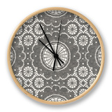 Elegance in Gray II Clock by N. Harbick