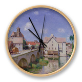 The Bridge at Moret, 1893 Clock by Alfred Sisley