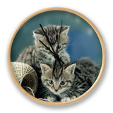 Kittens at Play Clock by  Steimer