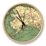 Alaska - Panoramic State Map Clock by  Lantern Press