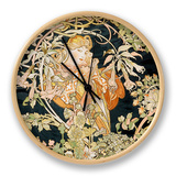 Young Woman, 1898-99 Clock by Alphonse Mucha