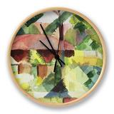 The Garden, 1914 Clock by Auguste Macke