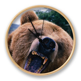Grizzly Bear (Ursus Arctos), Denali National Park & Preserve, Alaska, USA Clock by Mark Newman