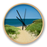 Nantucket Beach Dunes Photo Poster Clock
