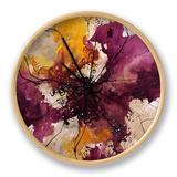 Alluring Blossom I Clock by Rikki Drotar