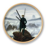 The Wanderer Above the Sea of Fog, 1818 Clock by Caspar David Friedrich