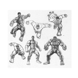 The Avengers: Age of Ultron - Hulk Character Sketches Prints