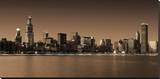 Ombre Skyline III Stretched Canvas Print by Adam Brock