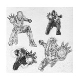 The Avengers: Age of Ultron - Iron Man Character Sketches Print