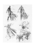 The Avengers: Age of Ultron - Vision Character Studies and Sketches Poster