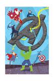 The Avengers: Age of Ultron - Iron Man, Thor, Hulk, Captain America, Hawkeye, Black Widow Posters