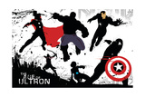 The Avengers: Age of Ultron - Character Silhouettes Design Poster