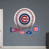 Chicago Cubs Baseball Logo Wall Decal