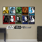 Star Wars Portraits Collection Wall Decal