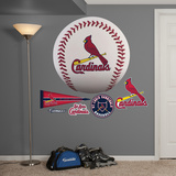 St. Louis Cardinals Baseball Logo Wall Decal