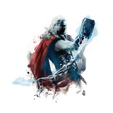 The Avengers: Age of Ultron - Thor Wielding Mjolnir Art