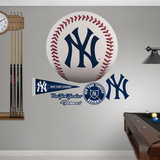 New York Yankees Baseball Logo Wall Decal