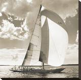 Two Schooners Stretched Canvas Print by Michael Kahn