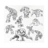 The Avengers: Age of Ultron - Hulk and Hulkbuster Sketches Prints