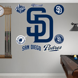 San Diego Padres SD Logo Wall Decal