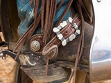 Cowgirls Boot & Saddle Photographic Print by Terry Eggers
