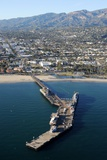 Aerial View of Stearns Wharf in Santa Barbara, California Photographic Print by  CW