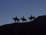 Cowboys in Silhouette Photographic Print by Terry Eggers