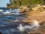Small Waterfall along the Edge of Miner's Beach at Lake Superior in Pictured Rocks National Seashor Photographic Print by Julianne Eggers