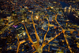 Aerial View of London at Night Photographic Print by Jason Hawkes