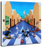 Acme Road Stretched Canvas Print