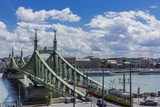 Szabadsag Hid (Liberty Bridge or Freedom Bridge), River Danube and the Town of Pest Photographic Print by Massimo Borchi