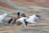 Cowboy at Full Gallop in Motion Photographic Print by Terry Eggers