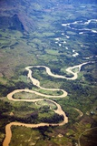 Meandering Wamena River, Baliem Valley, West Papua, Indonesia Photographic Print by Reinhard Dirscherl