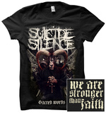 Suicide Silence - Stronger Than Faith (Front-Back) Tshirt