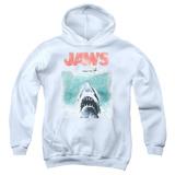Youth Hoodie: Jaws - Vintage Poster Pullover Hoodie