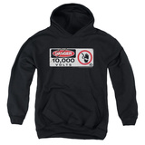 Youth Hoodie: Jurassic Park - Electric Fence Sign Pullover Hoodie