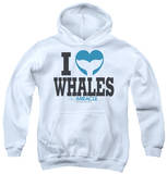 Youth Hoodie: Big Miracle - I Heart Whales Pullover Hoodie