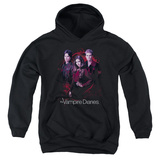 Youth Hoodie: Vampire Diaries - Company Of Three Pullover Hoodie