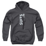 Youth Hoodie: Suits - Suit Standing Pullover Hoodie