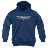 Youth Hoodie: Top Gun - Distressed Logo Pullover Hoodie