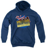 Youth Hoodie: Willy Wonka and the Chocolate Factory - Golden Ticket Pullover Hoodie
