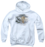 Youth Hoodie: Wildlife - Watchful Eye Lynx Pullover Hoodie