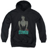 Youth Hoodie: Bettie Page - Hello Pullover Hoodie