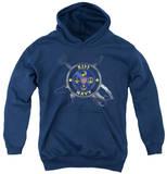 Youth Hoodie: KISS - Navy Logo Pullover Hoodie