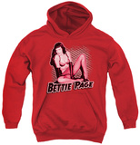 Youth Hoodie: Bettie Page - Pin Up Queen Pullover Hoodie