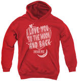 Youth Hoodie: Moon Pie - I Love You Pullover Hoodie