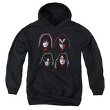 Youth Hoodie: KISS - Solo Heads Pullover Hoodie