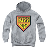 Youth Hoodie: KISS -  Army Logo Pullover Hoodie