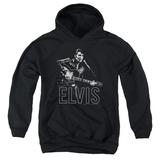 Youth Hoodie: Elvis - Guitar In Hand Pullover Hoodie